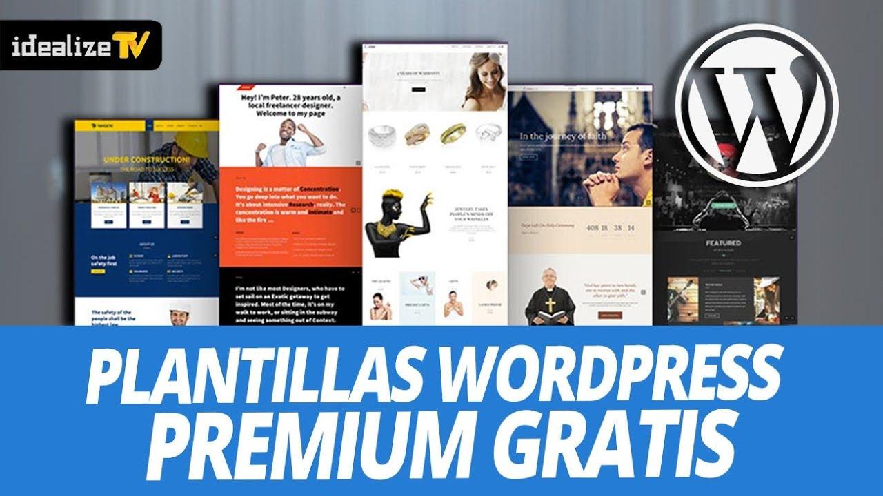 PACK PLANTILLAS WORDPRESS PREMIUM GRATIS - YouTube