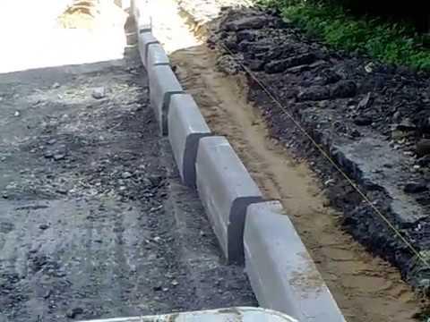 дорожный бордюр  установка
