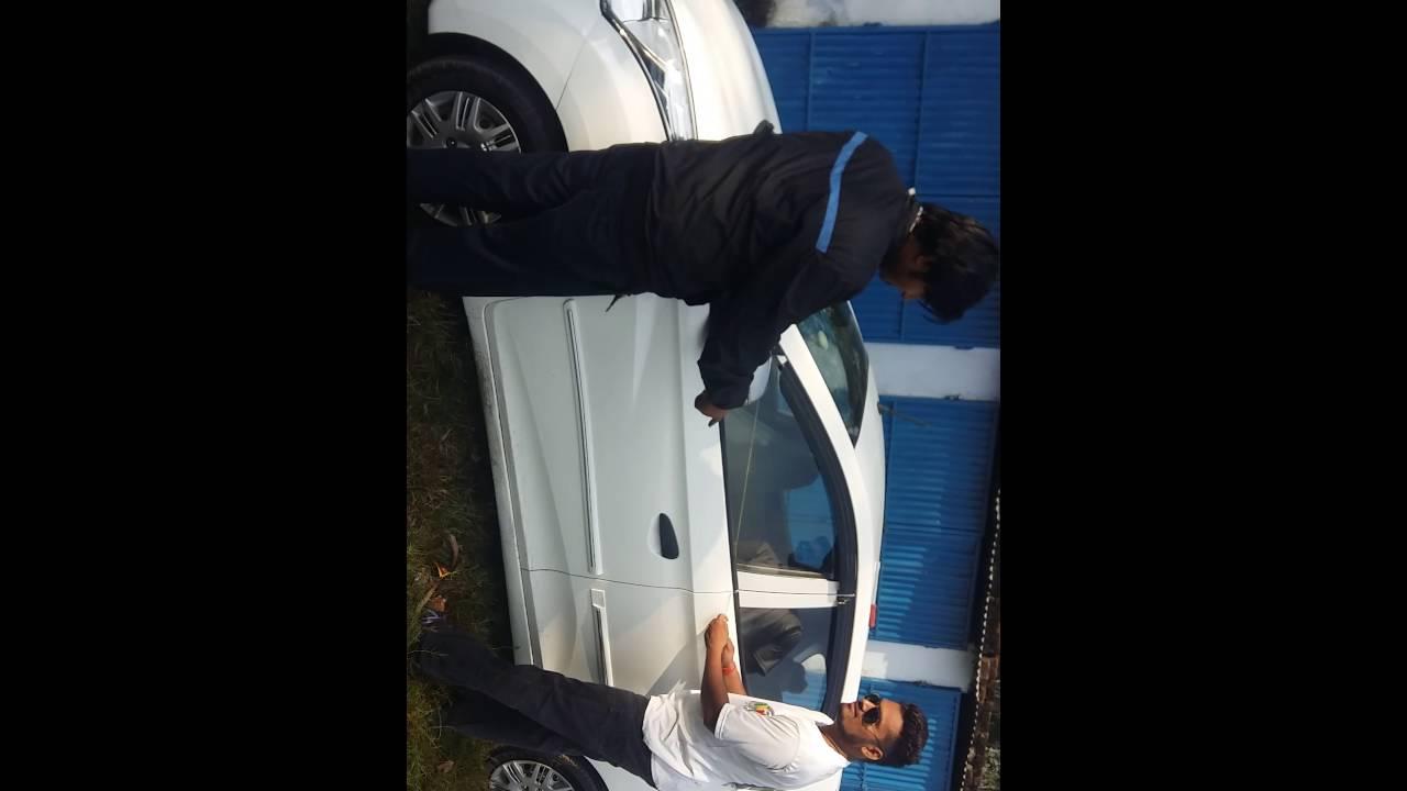 unlock the car door without key on hyundai eon car - YouTube