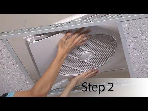 drop ceiling tile fan