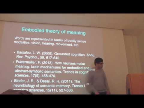Intro. to fMRI - Wk11, Class2, Pt.2: Semantic representation and embodied meaning