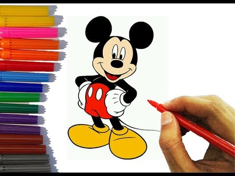 How To Draw Mickey Mouse Disney Character Easy Step By Step