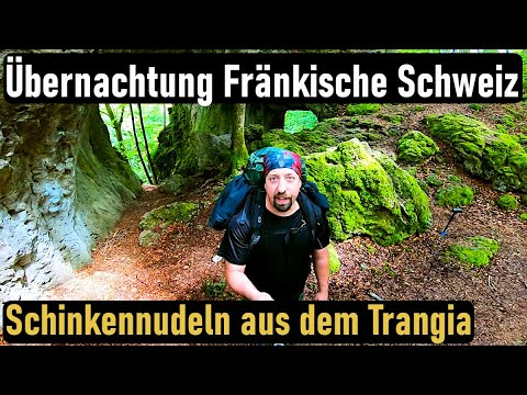Overnighter in der Fränkischen Schweiz, Besuch Höhle, Übernachtung allein im Wald |Bushcraft deutsch