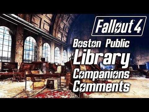Fallout 4 - Boston Public Library - All Companions Comments
