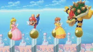 Super Mario Party - Peach vs Rival Very Hard Difficulty| Cartoons Mee