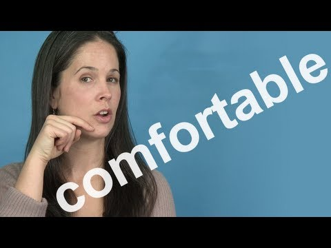How to Pronounce COMFORTABLE -- AMERICAN ENGLISH PRONUNCIATION