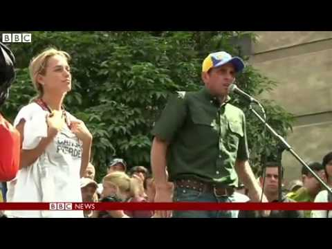 BBC News   Venezuelan police and opposition activists clash in Caracas