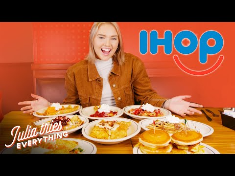 Trying IHOP's ENTIRE Pancake And Crepe Menu