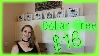 Dollar Tree | Small Laundry Room Organization | Laundry Room Makeover
