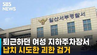 퇴근하던 여성 지하주차장서 납치 시도한 괴한 검거 / SBS