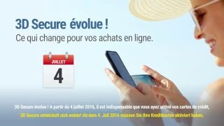Vous achetez en ligne ? N'oubliez pas d'activer 3D Secure avant le 4 juillet ! - Subtitles DE
