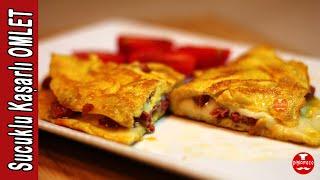 Sucuklu Kaşarlı Omlet Tarifi | Pişirmece | Yemek Tarifleri