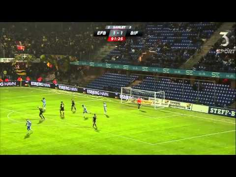 The Worst Freekick Of All Time! Smarason - Esbjerg vs Brondby | Denmark 18-04-2013