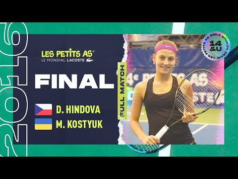 Denisa HINDOVA (CZE) [6] vs. Marta KOSTYUK (UKR) [3] - Final Main Draw Girls - Les Petits As 2016