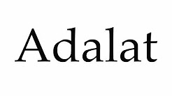 How to Pronounce Adalat