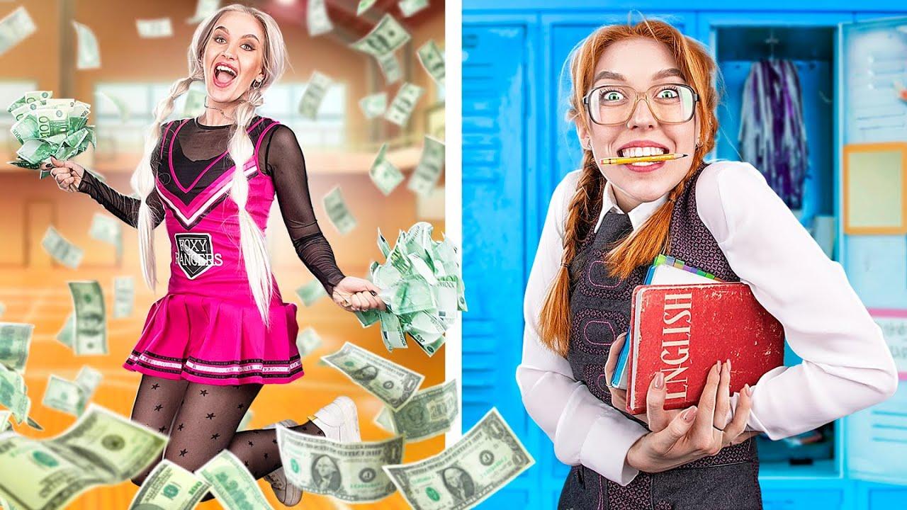 貧乏なオタク vs お金持ちなチアリーダー!