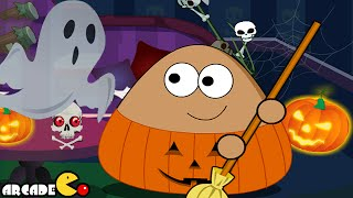 Pou Halloween Cleanup Walkthrough