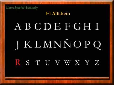 The Alphabet In Spanish | The Letters In Spanish | Alfabeto En Español | Letras En Español