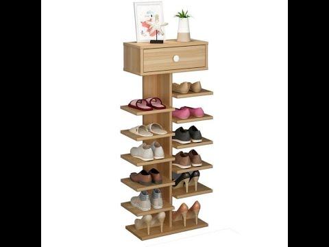 Cách lắp ráp kệ giày gỗ  7 tầng 14 ngăn _p2