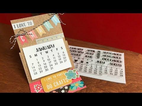 Desk Calendar Using the Never Ending Stamp Set