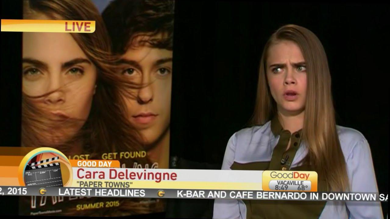 Cara Delevingne Talks About Paper Towns Youtube