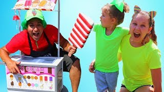 Ruby & Bonnie Pretend Play with Ice Cream Food Cart Toy & Singing Songs to save the day