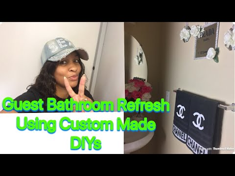 Small Guest Bathroom Tour Vlog Style + Quick DIY