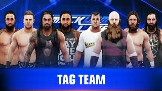WWE 2K19 Roman Reigns The MIZ & Usos vs Rowan Elias Shane McMahon Daniel Bryan Tag Team Match