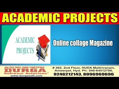 Java academic Projects||online projects||Online collage Magazine