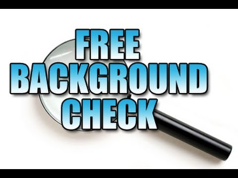Free background check sites