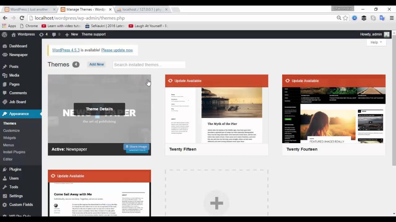 how to change wordpress theme home page