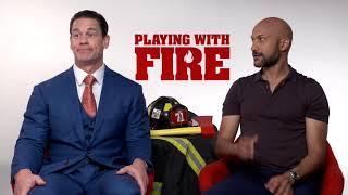 John Cena u0026 Keegan-Michael Key Interview: Playing With Fire