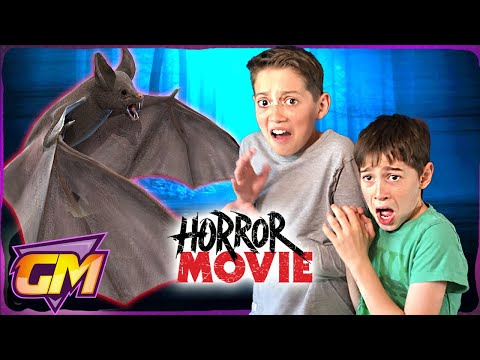 Halloween Kids Movie: Scary Vampire Bat Attacks!! (Horror Skit)
