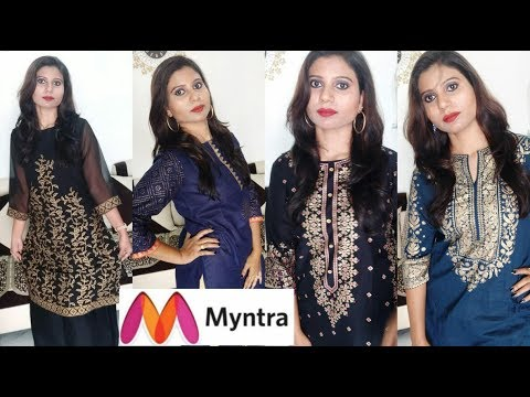 Myntra Online Shopping Kurtis And Dresses Haul Under Rs 700