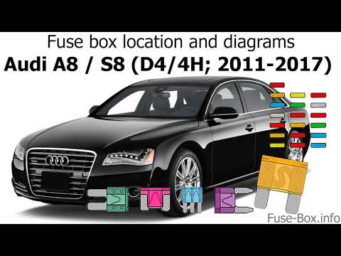 Fuse box location and diagrams: Audi A8 / S8 (D4/4H; 2011-2017) - YouTubeYouTube