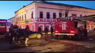 Пожар произошёл в одном из магазинов Ярославля