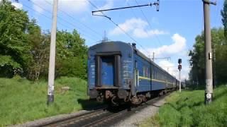 2М62У-0160 c пассажирским поездом Львов - Черновцы на перегоне Львов - Персенковка