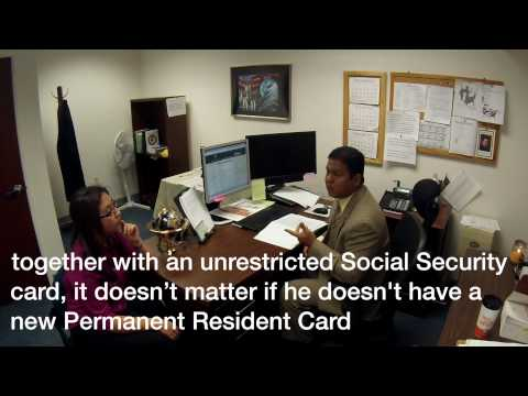Employers Should not Reverify Permanent Resident Cards