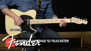 Limited Edition American Vintage '52 Telecaster Korina Demo