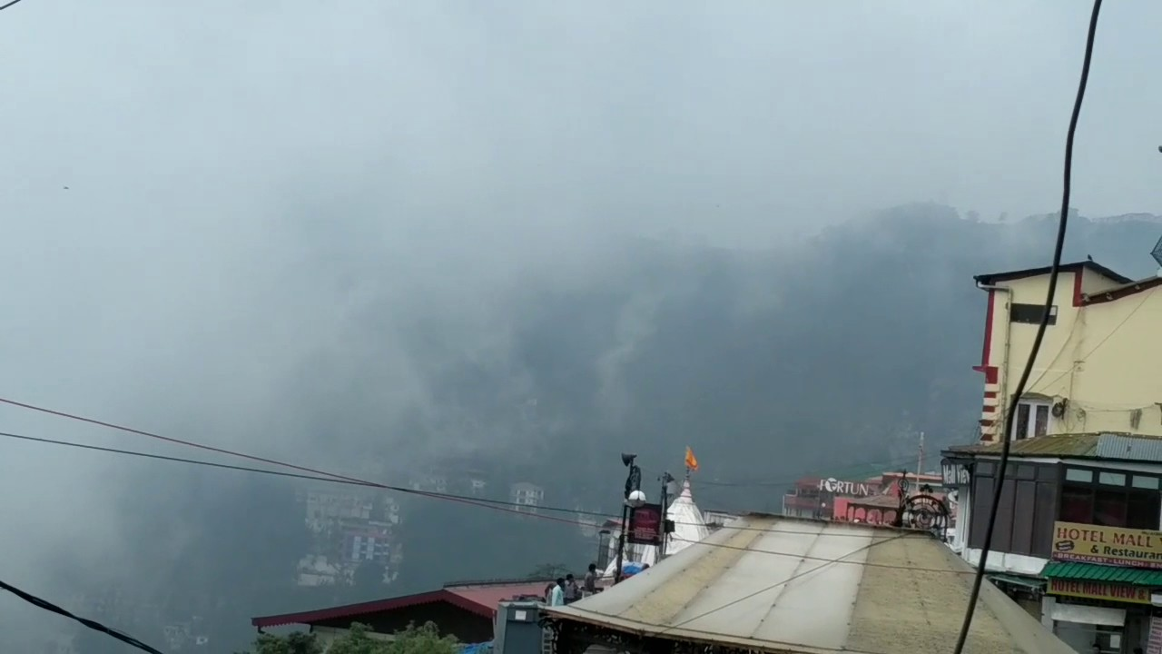 Weather at mussoorie - YouTube