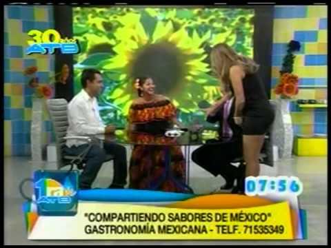 Compartiendo sabores de Mexico en la Television de Bolivia
