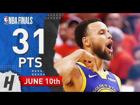 Stephen Curry Full Game 5 Highlights Warriors vs Raptors 2019 NBA Finals - 31 Pts, 7 Ast, 8 Reb!
