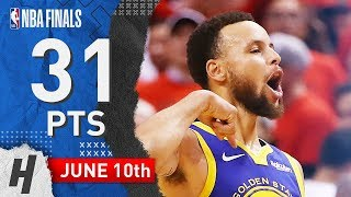 Stephen Curry Full Game 5 Highlights Warriors vs Raptors 2019 NBA Finals - 31 Pts, 7 Ast, 8 Reb!