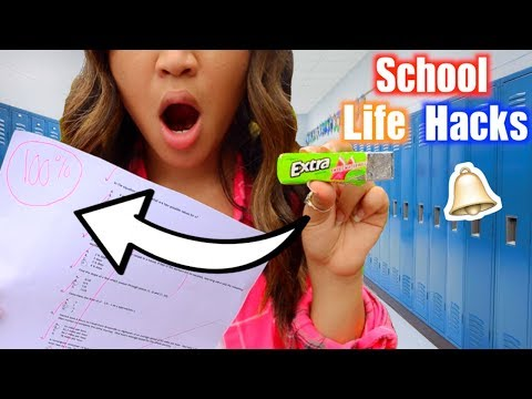 10 Back To School Life Hacks EVERY STUDENT Should Know!