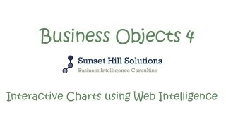 Business Objects 4x - Interactive Charts using Web Intelligence