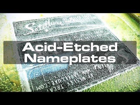 Acid Etching Aluminum for Custom Nameplates
