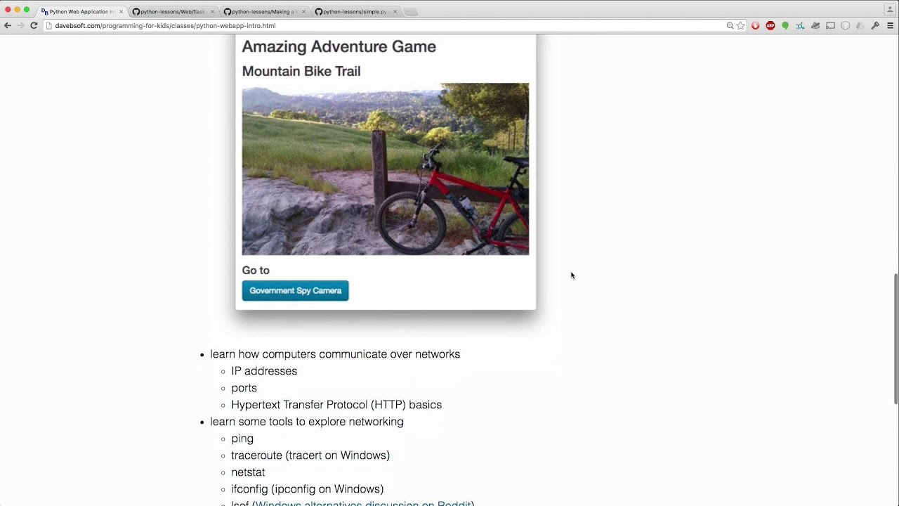 Overview of Python Web Application Introduction Class