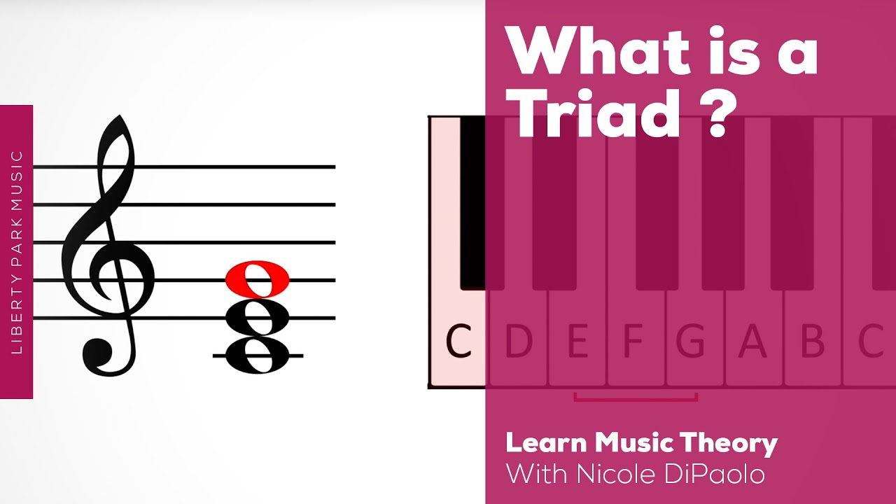 What Is A Triad Music Theory Video Youtube