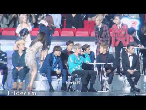 151202 Suho & Seohyun Moment @ MAMA 2015