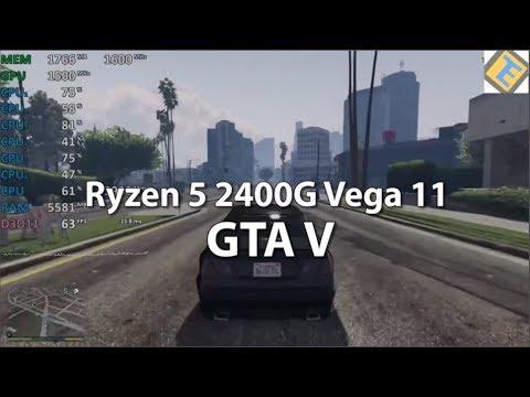 Ryzen 5 2400g Review Gta V Gameplay Benchmark Vega 11 Igpu Youtube
